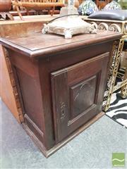 Sale 8424 - Lot 1076 - French Rustic Single Door Pot Cupboard