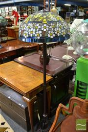 Sale 8489 - Lot 1020 - Leadlight Standard Lamp