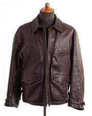 Sale 8640F - Lot 14 - A C.P. Company brown leather jacket, size 54