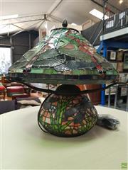 Sale 8637 - Lot 1081 - Leadlight Shade & Base Table Lamp