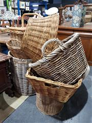 Sale 8777 - Lot 1062 - Large Collection of Various Wicker Baskets