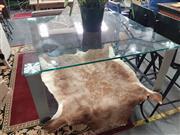 Sale 8787 - Lot 1067 - Modern Glass Top Coffee Table (H: 42.5 L: 100 W: 100cm)