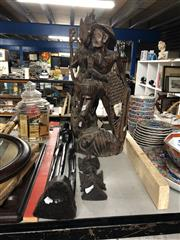 Sale 8819 - Lot 2468 - 4 Oriental Wooden Carvings
