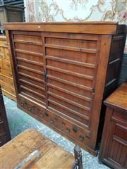 Sale 8868 - Lot 1057 - Large Meiji Pine Tansu, with two sliding doors & three drawers below