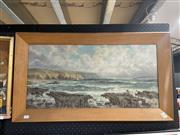 Sale 9028 - Lot 2043 - Michael Coghlan (Early C20th) White Cliffs of Dover oil on canvas, 50 x 88cm (unsigned)