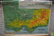 Sale 8338 - Lot 1025 - Vintage School Map of Victoria