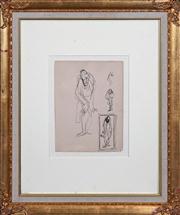 Sale 8420 - Lot 570 - William Dobell (1899 - 1970) - Character Study 26 x 19.5cm