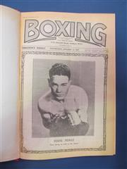 Sale 8419A - Lot 62 - Boxing News 1936-1953 - 9 bound volumes of Boxing News 1936-1938, 1948-1953