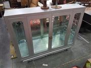 Sale 8601 - Lot 1366 - Silver Painted Timber Display Cabinet with Single Glass Shelf