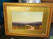 Sale 8659 - Lot 2047 - Nely D Ford Dartman - Lavender Fields, gouache, 53 x 70.5cm (frame size), signed Macivor lower left