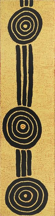 Sale 8808 - Lot 548 - Dinny Nolan Tjampitjinpa (c1922 - ) - Bush Onion Dreaming 200 x 50cm (stretched and ready to hang)