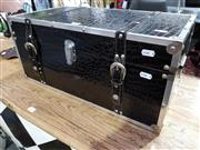Sale 8777 - Lot 1051 - Small Faux Crocodile Skin Trunk