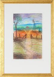 Sale 8891 - Lot 2009 - Kym Hart (1963 - ) - Entrance to the Farmstead 33.5 x 23 cm