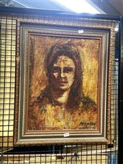 Sale 8895 - Lot 2029 - Paul Delpat - Beatrice, oil painting, 44 x 33cm, signed lower right