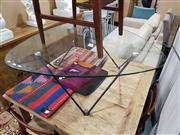 Sale 8934 - Lot 1042 - Modernist Glass Top Coffee Table