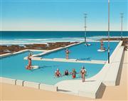 Sale 8938A - Lot 5005 - James Willebrant (1950 - ) - Coastal Bathing 1985 55 x 72 cm (frame: 90 x 104cm)