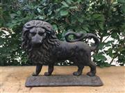 Sale 9015G - Lot 95 - Antique 19th Century Cast Iron Lion Door Stop.General Wear , Surface Rust .Size 27cm L