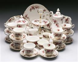 Sale 9093 - Lot 26 - Royal Albert Lavender Rose Tea and Coffee service