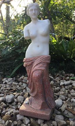 Sale 9175G - Lot 67 - Carved Marble Venus Sculpture General Wear .Size :56cm H