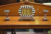 Sale 8390 - Lot 1007A - French Art Deco Marble Clock Garniture