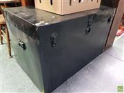 Sale 8562 - Lot 1087 - Large Black Painted Travelling Trunk