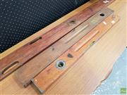 Sale 8625 - Lot 1078 - Three Vintage Levels (Largest L: 154cm)