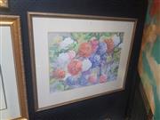 Sale 8833 - Lot 2039 - Jason King Hydrangeas watercolour, 68 x 85cm, signed