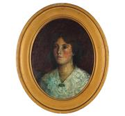 Sale 8881 - Lot 600 - Artist Unknown - Portrait of a Young Woman, c1900s 47 x 37 cm