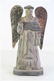 Sale 8905S - Lot 608 - A Franciscan monk in angel form, missing hand. Height 34cm