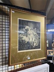 Sale 8924 - Lot 2085 - After Norman Lindsay (1879 - 1969) Unmasked monophoto lithograph ed 191/200, 30x26cm. -