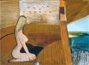 Sale 8958A - Lot 5029 - Garry Shead (1942 - ) - Palm Beach Interior, 1973 51 x 71.5 cm (frame: 55 x 74 x 4 cm)
