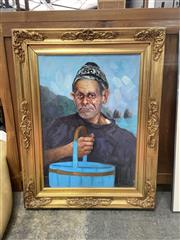 Sale 9072 - Lot 2064 - Artist Unknown The Fishermen, oil on canvas -