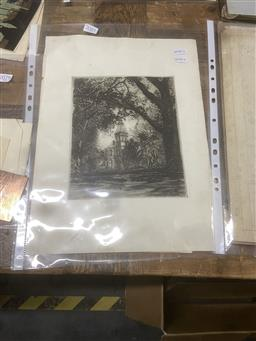 Sale 9111 - Lot 2081 - A quality assortment of etchings and linocuts including Gayfield Shaw, Frank Jessup & Vernon Lorimer -