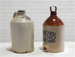 Sale 9121 - Lot 1012 - Elliots ceramic demijohn & another (h:42cm)