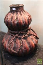 Sale 8285 - Lot 77 - Large Double Gourd ikebana Vase