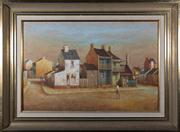 Sale 8313A - Lot 4 - John Pointon - Terrace houses 40 x 60cm