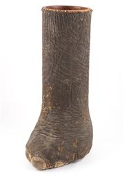 Sale 8586A - Lot 101 - A unique and incredibly rare antique taxidermy elephant foot converted into a stick stand, H 85cm
