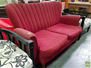Sale 8554 - Lot 1080 - .Vintage Scallop Back 2 Seater Settee