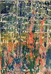 Sale 8686 - Lot 2047 - Jan Mitchell - Abstract Waterfall mixed media on paper, 66 x 46cm, signed and inscribed verso -