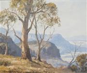 Sale 8707 - Lot 2001 - Leon Hanson (1918 - 2011) - Kanimbla Valley, Near Blackheath, Blue Mountains NSW 49.5 x 60cm