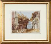 Sale 8767 - Lot 2034 - L Lyons - Castle Ruins, 1876 18.5 x 25cm