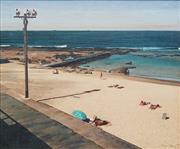 Sale 8781 - Lot 515 - John Earle (1955 - ) - Bar Beach II, 1986 49.5 x 59.5cm