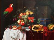 Sale 8821A - Lot 5099 - Artist Unknown (C21st) - Still Life with Macaw 75 x 100.5cm