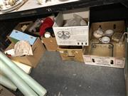Sale 8819 - Lot 2524 - 7 Boxes of Sundries incl Darts, Eau de Toilette, etc