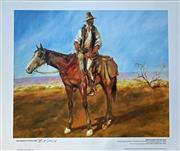 Sale 8996A - Lot 5044 - Hugh Sawrey (1919 - 1999) - Sid Kidman Cattle King 45.5 x 54 cm