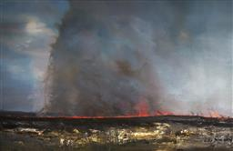 Sale 9096 - Lot 557 - Geoff Dyer (1947 - 2020) Dusk Burn Off I, 2003 oil on canvas 183 x 274 cm no visible signature. Provenance: Purchased in 2004 from A...