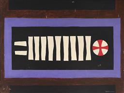 Sale 9096 - Lot 561 - John Coburn (1925 - 2006) Untitled (Celtic Cross) oil on board 76 x 102 cm (frame: 78 x 105 x 3 cm) signed lower right