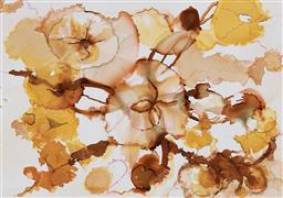 Sale 9174JM - Lot 5100 - SYLVIA SIEFF (1934 - ) Autumn Shades alcohol inks on paper (no glass) 29 x 41 cm (frame: 45 x 62 x 3 cm) signed verso