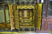 Sale 8348 - Lot 86 - Meiji Black & Gold Lacquered Shrine Cabinet