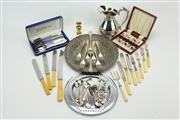 Sale 8405 - Lot 74 - Eastern Tray with Other Plated Wares incl Cutlery